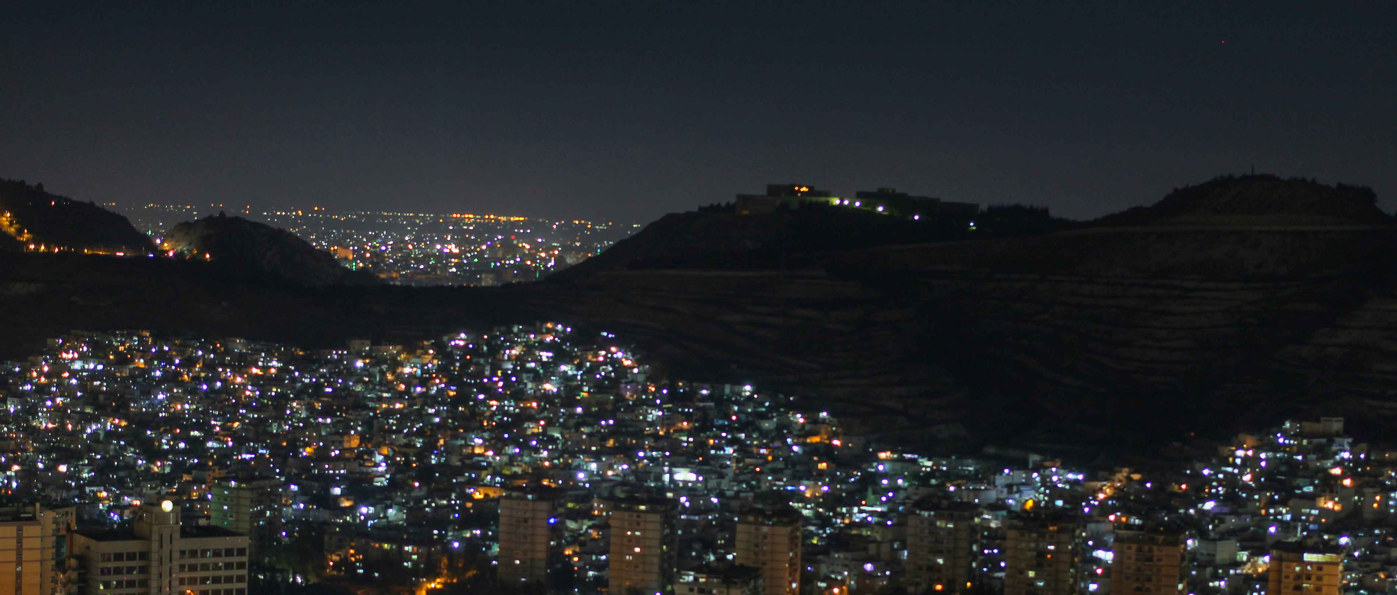 Nightview from Dummar, Damascus, Syria